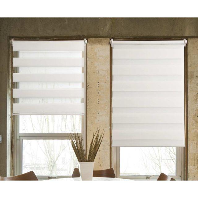 Store Journuit Tissu 100 Polyester Blanc 40x100cm Pas Cher Achat