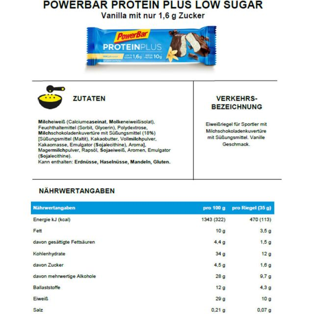 PowerBar - ProteinPlus Low Sugar