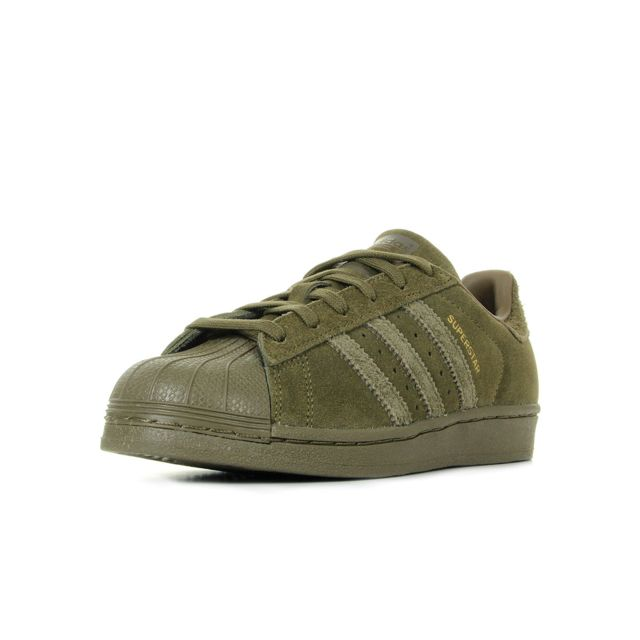 Adidas - Superstar Trace Olive Vert olive - pas cher Achat / Vente Baskets homme - RueDuCommerce