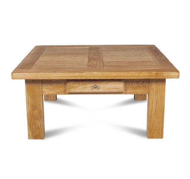 d8c3ffd53ab0c HELLIN - Table basse carrée La BRESSE - bois chêne clair massif ...