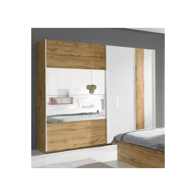 Price Factory Armoire Garde Robe Wood Deux Portes Coulissantes