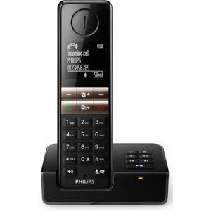 philips t l phone fixe sans fil avec r pondeur d4651b fr solo noir pas cher achat. Black Bedroom Furniture Sets. Home Design Ideas