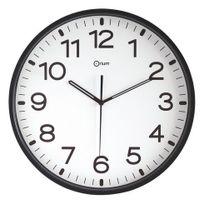 Orium - Horloge silencieuse à quartz D 30 cm noire