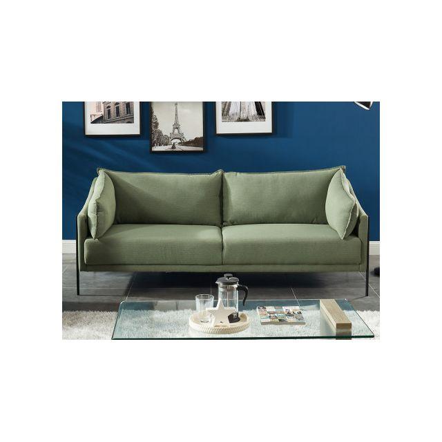 Canapé 3 places en tissu ATARA - Vert