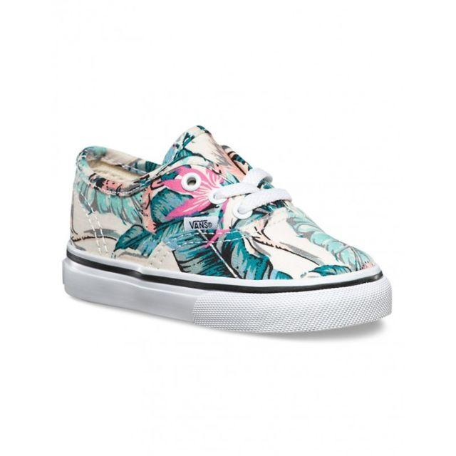 12591d76ab11c1 Vans - Chaussure T Authentic - Tropical Multi   True White - pas cher Achat    Vente Baskets enfant - RueDuCommerce