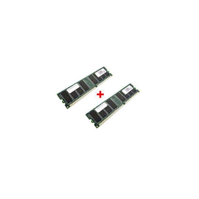 RUE DU COMMERCE Mémoire Kit de 2 Barrettes RDC DDR-SDRAM PC-2700 - 2 x 1 Go 2 Go, 333 MHz Mémoire - 1 Go x 2 - non ECC- DDR-SDRAM 333 MHz - DIMM 184 broches - PC 2700
