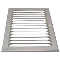 Anjos Ventilation - Grille D'AERATION Aluminium En Applique - Finition:Argent - Haut. mm:165 x 165 - Larg. mm:90 - Passage d'air cm²