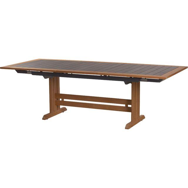 Alinéa - Valteck Table de jardin extensible en teck et ...
