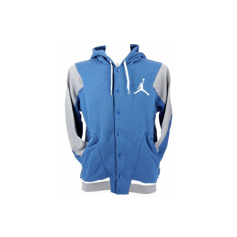 1d0acc82a30ac NIKE- Veste Jordan The Varsity Hoodie - Ref. 547693-434 - Bleu