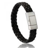 Di-Angelo - Bracelet Cuir Noir