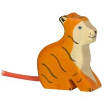 Holztiger - Figurine en bois : Animaux de la Jungle : Tigre petit