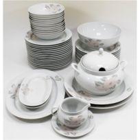 00aa4c3a9df843 Générique - Service de table Vaisselle en porcelaine de Baviere pour 12  personnes 44 pieces Alice