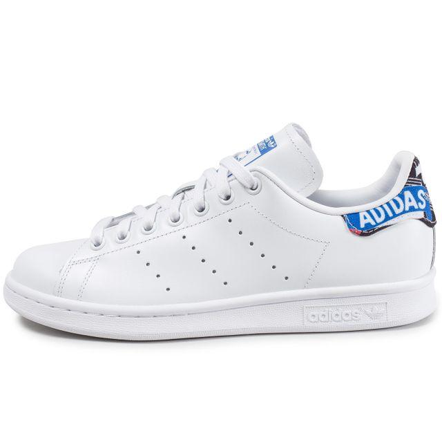 sports shoes 7a9ff 142ab Adidas originals - Stan Smith Blanche patch Graphique