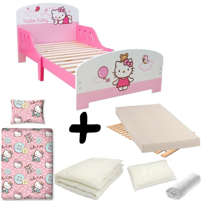 bebe gavroche pack complet lit nuage hello kitty lit matelas parure couette oreiller blanc. Black Bedroom Furniture Sets. Home Design Ideas