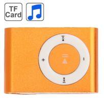 Wewoo - Lecteur Mp3 carte Tf Micro Sd avec clip en métal Orange