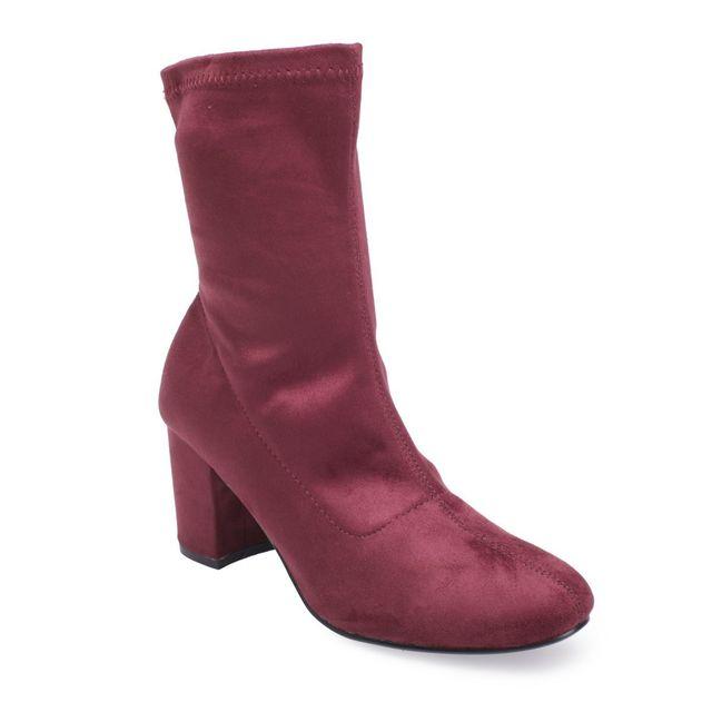 bottines chaussettes rouges pas cher