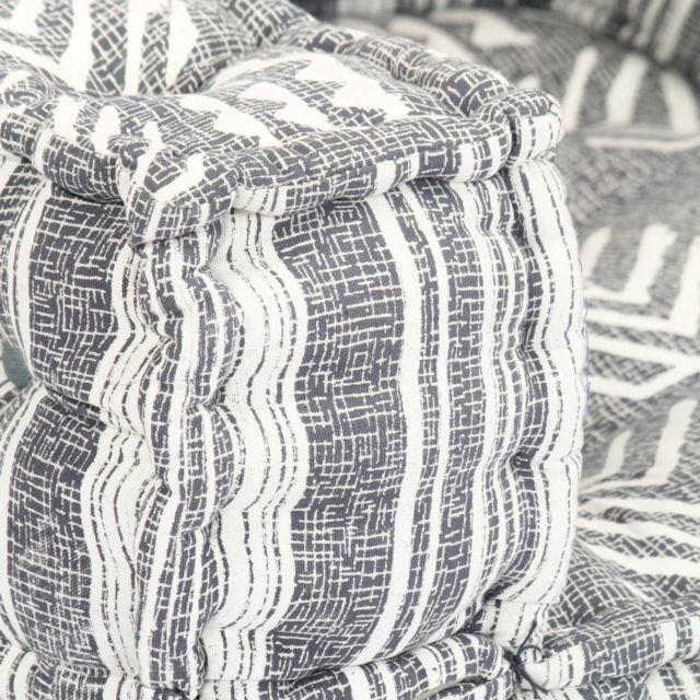 Icaverne - Canapés ligne Chaise-canapé modulaire Tissu Rayure