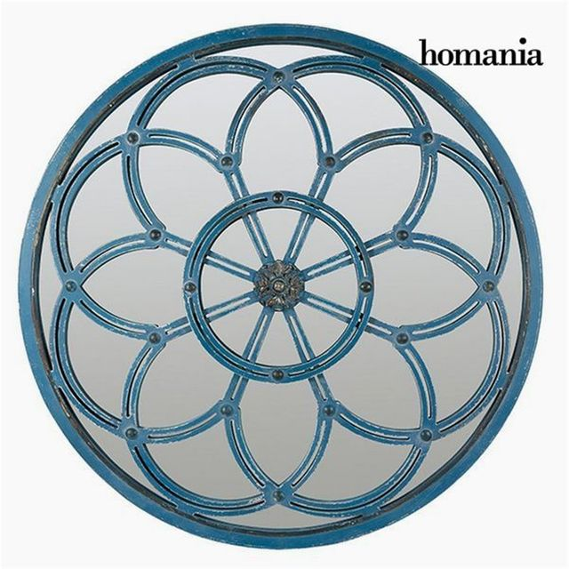 Homania Miroir Rond Bleu - Collection Modern by
