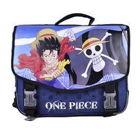 One Piece - Cartable 41 cm 2 compartiments bleu
