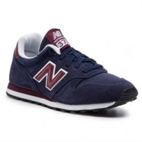 New Balance 373 Baskets en daim Bleu marine et bordeaux