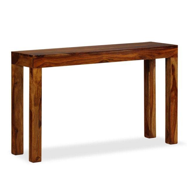 sublime Consoles collection Caracas Table console Bois massif de Sesham 120 x 35 x 75 cm