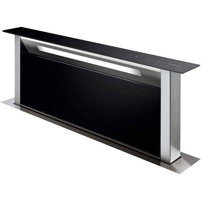 DE DIETRICH hotte plan de travail 90cm 503m³/h verre noir/inox - dhd7961b