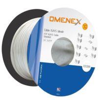 Omenex - Bobine câble Rj45 a sertir catégorie 5 Ftp droit 100m blanc