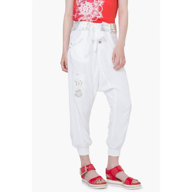 27dceb5500a Desigual - Pantalon Caeli Denim Nature 74p2wj5 - Taille - 44 - pas cher  Achat   Vente Pantalon femme - RueDuCommerce