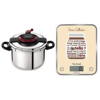 Seb - Clipso Plus Autocuiseur 10 L + Balance Optiss Nutella Yy3064FA Toux feux dont induction