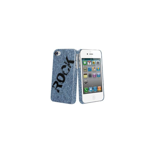 Muvit - Coque arriere protection collection Rock 2 pour iphone 4 et 4S