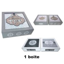 Revimport - Boîte à thé 9 cases bois laqué 24x24 cm décoré