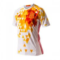 Adidas - Maillot Jr Sélection espagnole Extérieur Euro 2016 White-Power red Taille 14