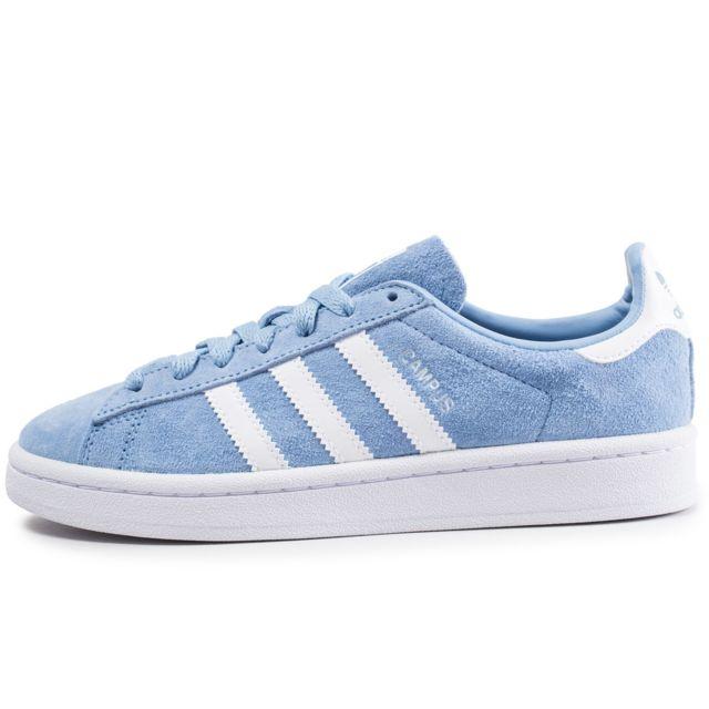 Adidas originals - Campus Bleue Ciel Et Blanche - pas cher ...