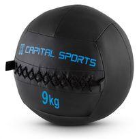 CAPITAL SPORTS - Epitomer Set Wall Ball 9kg simili cuir 5 pièces - noir