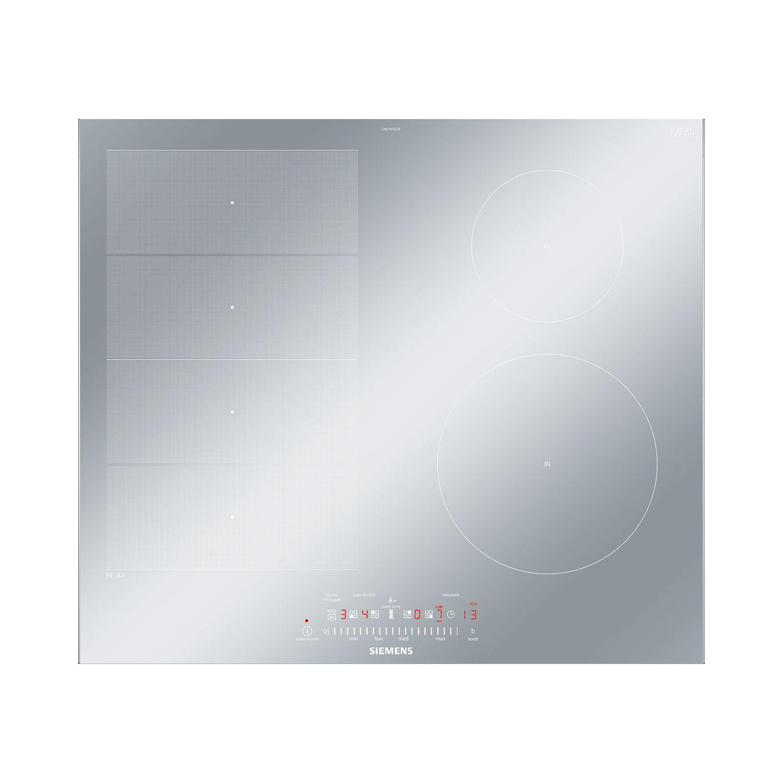 cool siemens table de cuisson induction cm feux w inox exfecf with protection de plaque induction. Black Bedroom Furniture Sets. Home Design Ideas