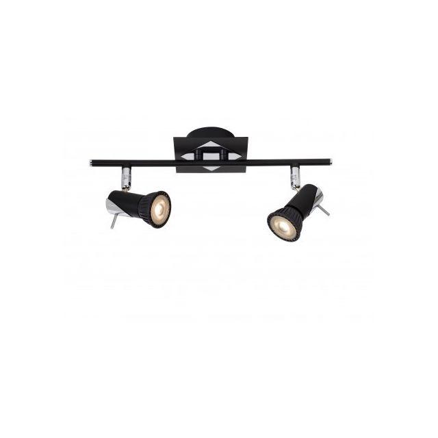 Lucide Brackx-led - Spot Plafond - Led Dim Gu10 - 2x5W 3000K - Noir