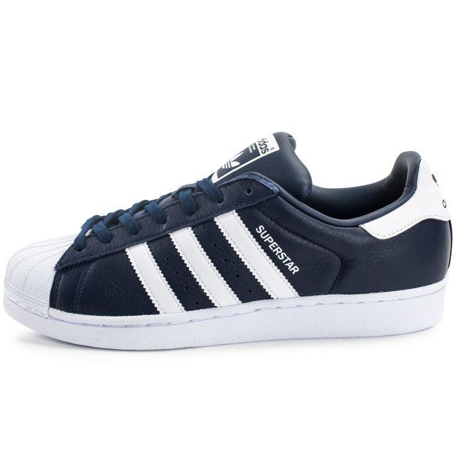 superstar adidas bleu marine