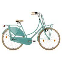 KS CYCLING - Vélo hollandais 28'' Tussaud 3 vitesses menthe avec porte-bagages avant TC 54 cm