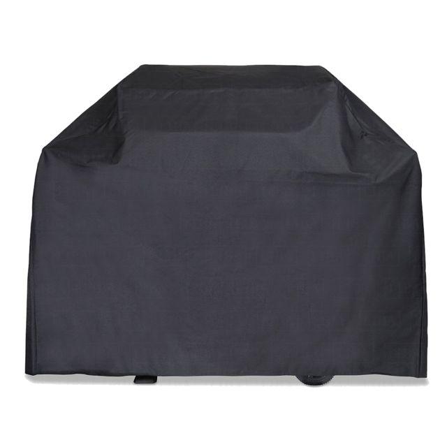 Brixo Housse de protection Barbecue 142 x 43 x 120 cm Noire Cover Doublée rembourée