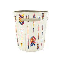 Nattiot - Panier de rangement 100% coton anses motif flèches multicolores 40x30x30cm Arrow