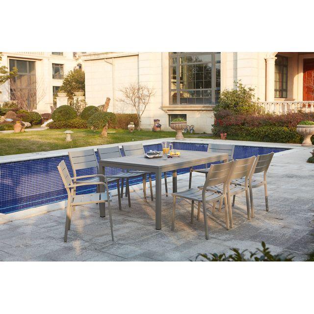 CONCEPT USINE - Mezzane : table de jardin extensible 8 personnes ...