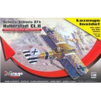 Mirage Hobby - 481401, 1:48 Dimension, Schusta Schlasta 27B Halberstadt Cl.II + Lozenge Set, Maquette Plastique