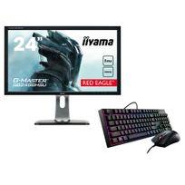 IIYAMA - Ecran Gaming GB2488HSU-B3 24'' 144Hz FreeSync + MasterKeys Lite L Combo RGB