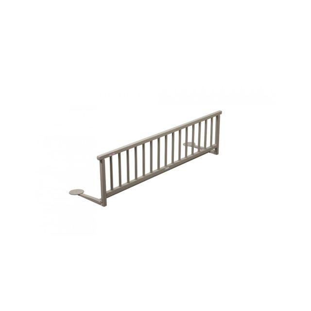 combelle barri re de lit bois laqu gris clair pas. Black Bedroom Furniture Sets. Home Design Ideas