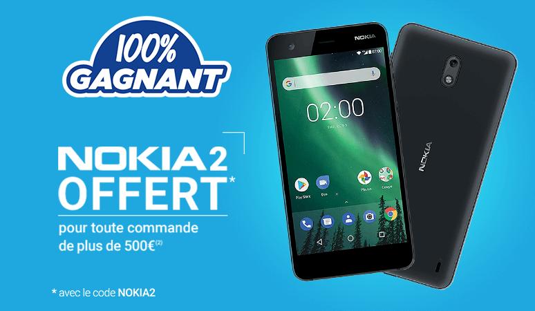 Un NOKIA 2 Offert pour les commandes de plus de 500€ !