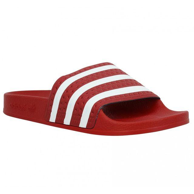 Rouge 37 Adidas Achat Adilette Sandales Femme Pas Cher Vente MqVpGSUz