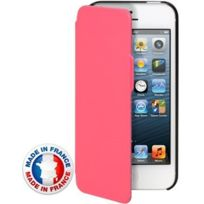 Modelabs - Etuicoxip5MIFP Etui coque rabat latéral rose rabat latéral pour iPhone 5s made in france