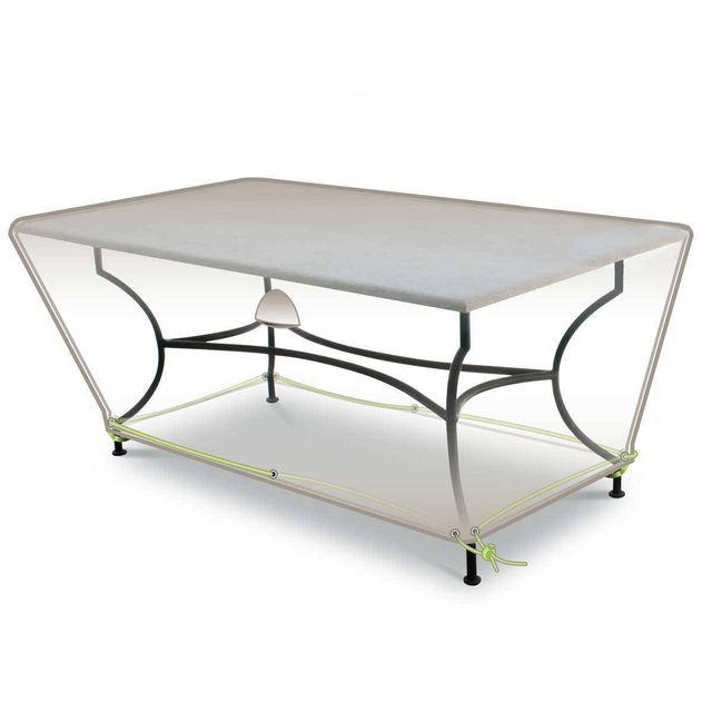 JARDIDECO Housse de protection pour table rectangulaire 210 x 100 x 50 cm LUXE