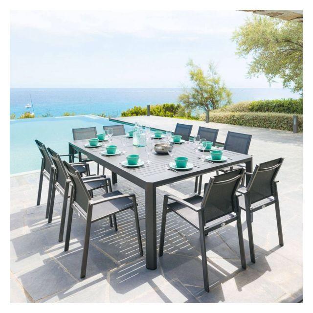 Table extensible 10 places aluminium Seville Hespéride