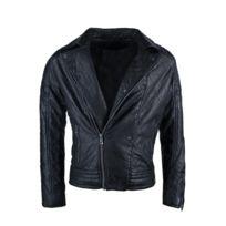 Gov Denim - Perfecto Homme Justway noir en simili cuir 89825_BK L